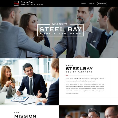 Modern Private Equity Firm Website