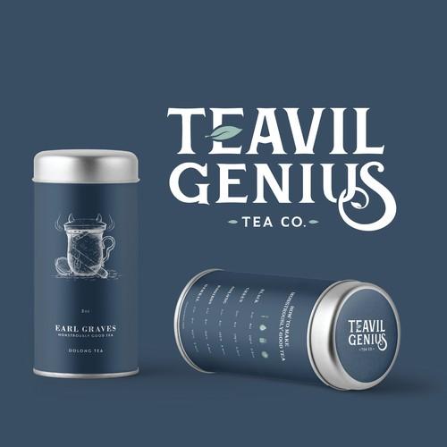 Timeless Tea Tin Packaging Design