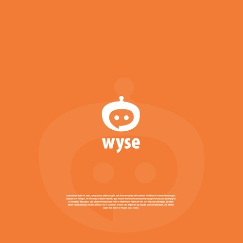 chat boot logo wyse design