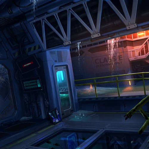Concept Art of Underwater Research Station #1
