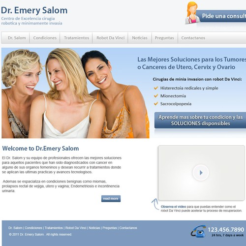 Website concept for Dr.Emery Salom