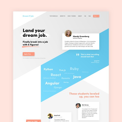 Website design for IT professionals