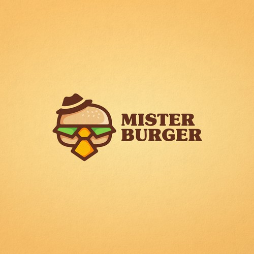 Creative logo for Mister Burger