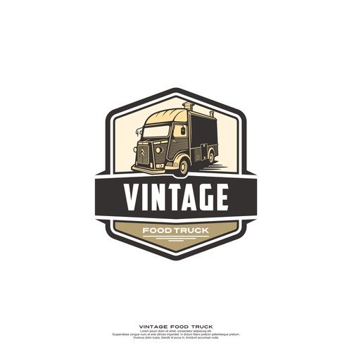 Design a logo for vintage foodtruck