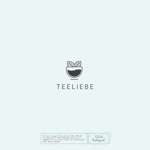 Minimalistic Logo-concept for Teeliebe