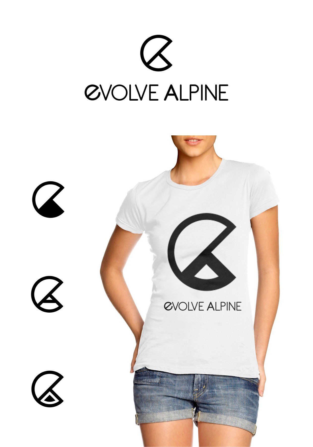 Create the next logo for EVOLVE ALPINE