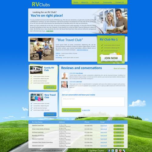 Design For A New RV Club Website
