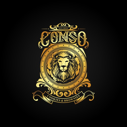 "Classic logo concept for ""CONSO"" Cookies & Brownies"