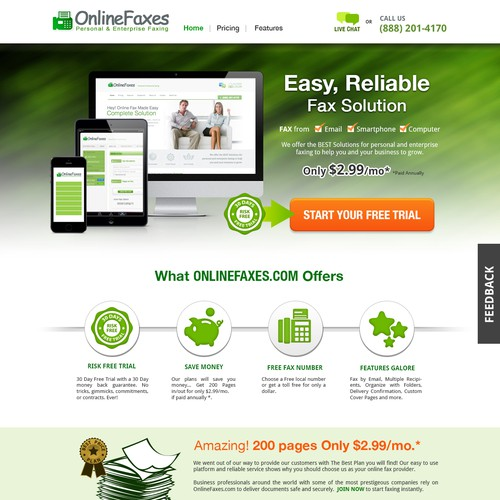 Create a 1 page landing page that promotes 1 product