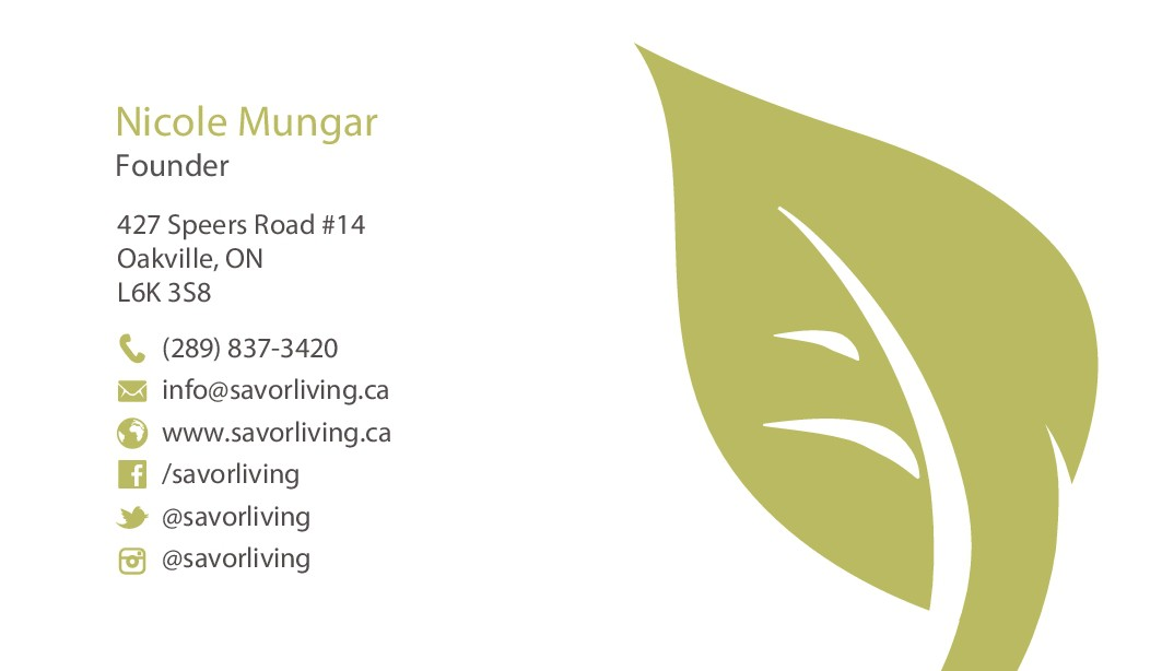 Business Card Design for my New Vegan Meal Service