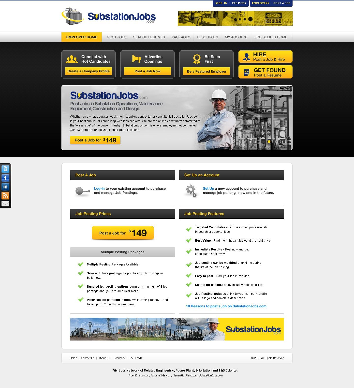 Help SubstationJobs.com with a new website design
