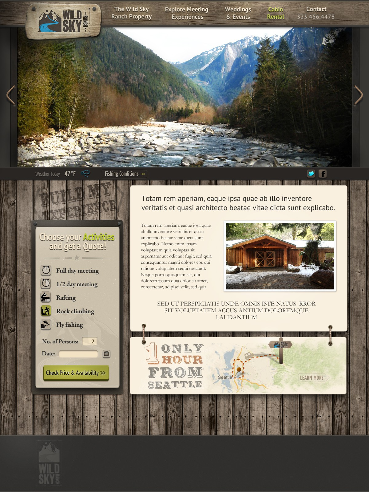 Help Wild Sky Ranch with a new website design