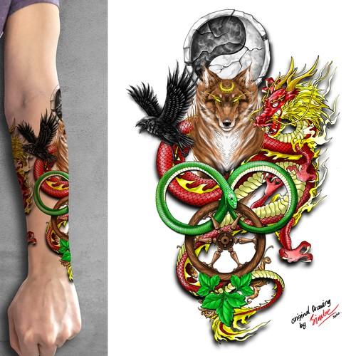 Epic Book Tattoo