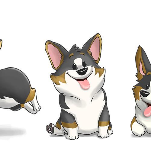 Create 4-6 corgi characters for a corgi website