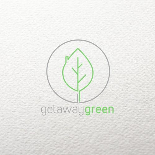 clean, modern logo for GetawayGreen