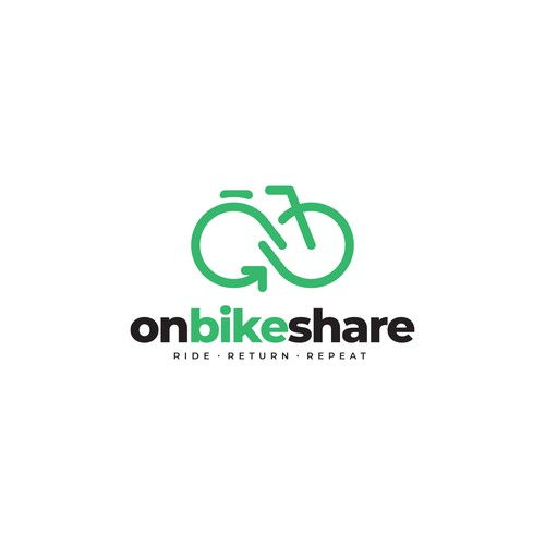Logo for bike share company