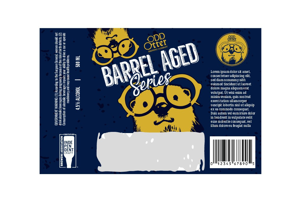 Barrel aged and Sour beer label