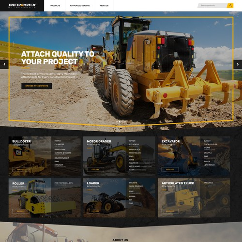 Heavy Machinery Parts Dealer Website Design