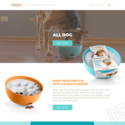 Ecommerce Pet Homapage Design
