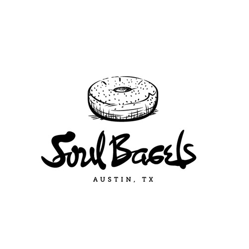 Handwriting concept logo for Soul Bagels