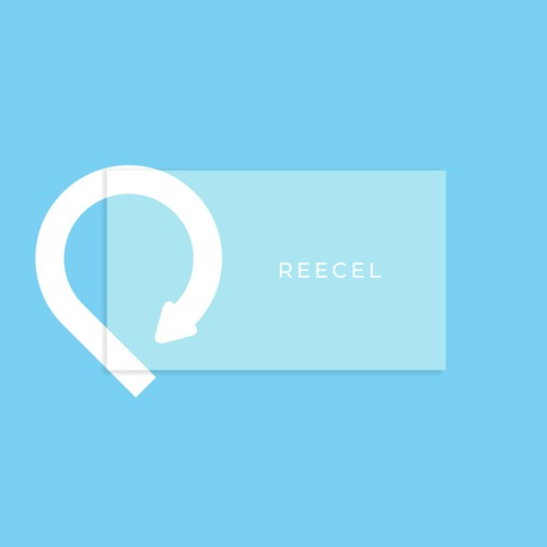 Simple logo for REECEL app logo design