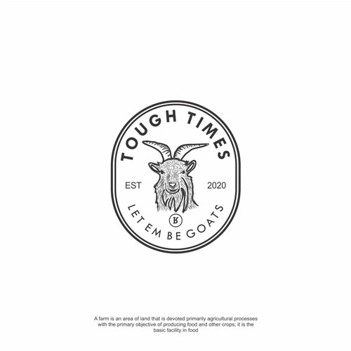 Vintage design goat head