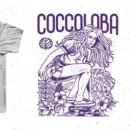 t-shirt design entry for coccoloba