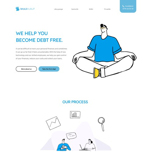 Simple and clean website design