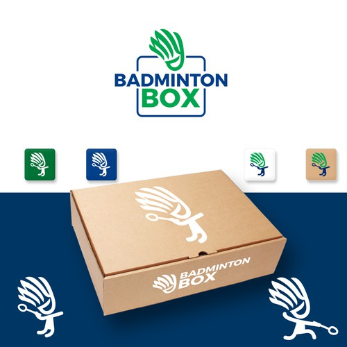 Logo for a startup badminton subscription service