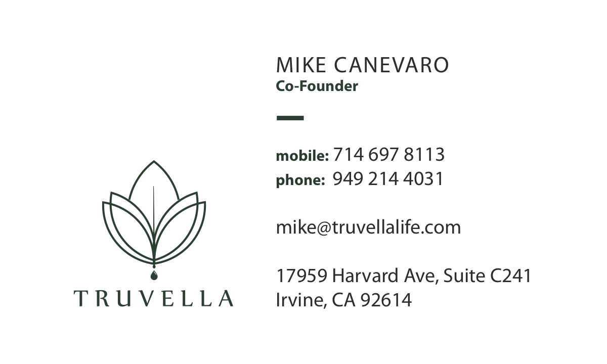 Truvella Business Cards