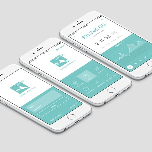 Create a modern, slick, user friendly graphic for a Silicon Valley banking startup.