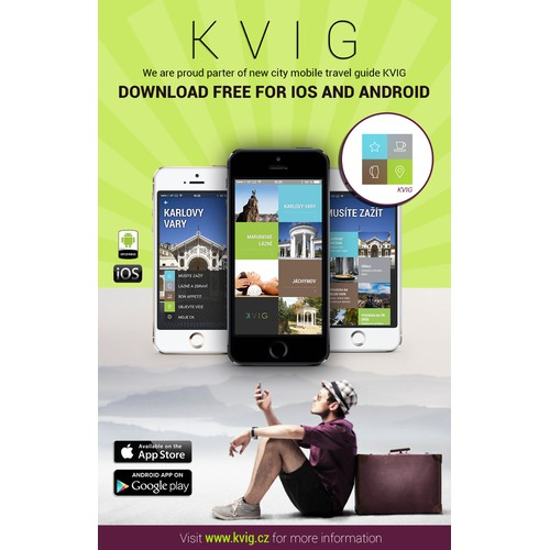 Promotion flyer for new travel mobile application KVIG