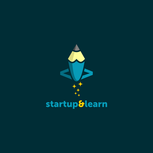 Playful logo for software developer courses: Startup and Learn