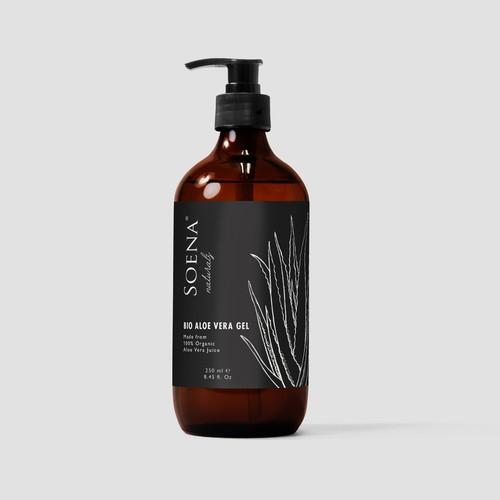 Packaging design for an organic aloe vera gel