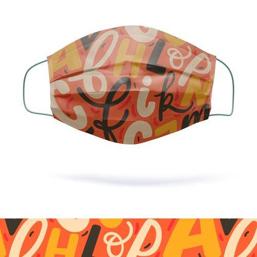 Lettering pattern for mask