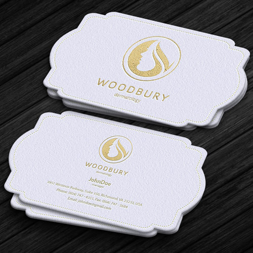 Buzines card for dermatology office