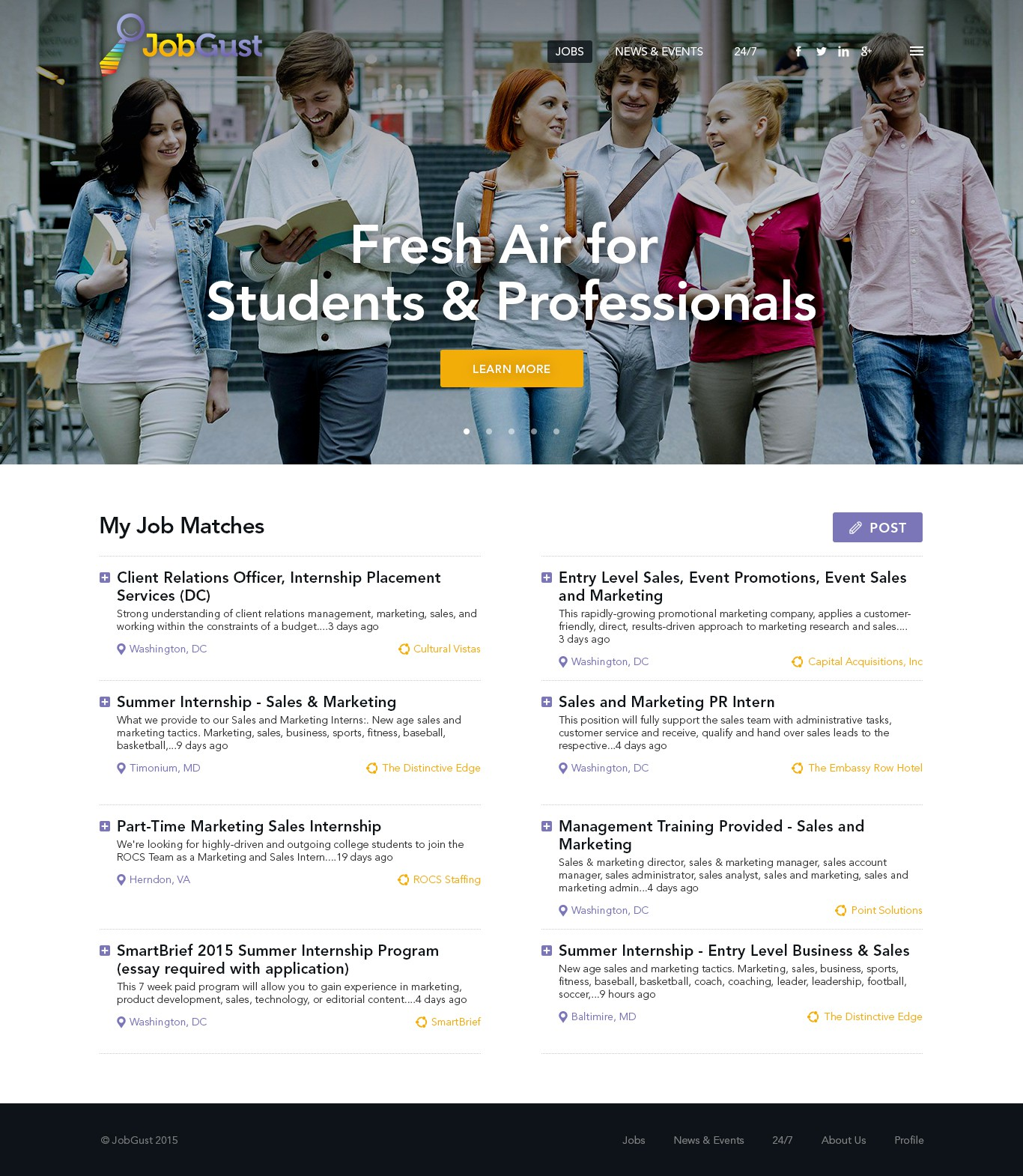 Create an Exciting Mobile Website for JobGust