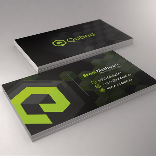 Create a modern logo & business card for Qubed