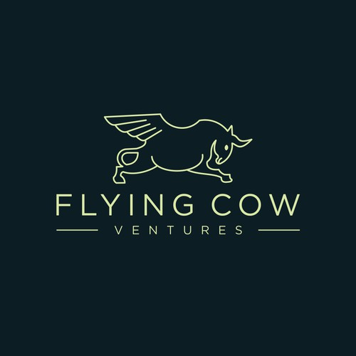 flying cow line logo