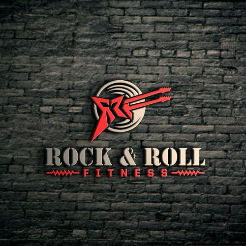 Powerfull logo concept for  RRF - Rock &  Roll Fitness