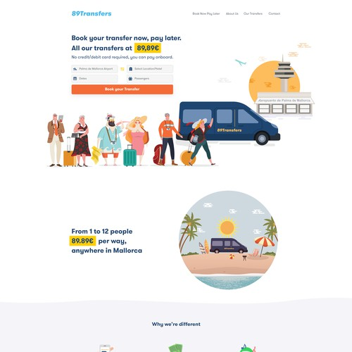 Fun and illustrative design for a Tourist firm
