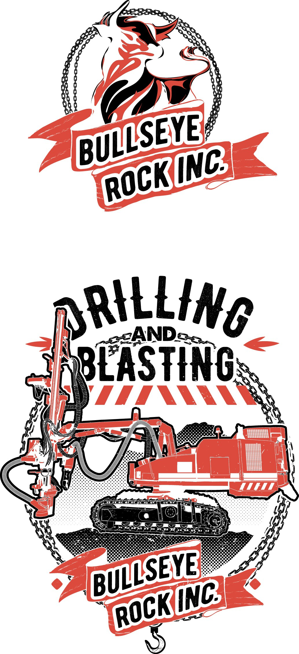 Bullseye rock inc. - drilling and blasting company looking for a vintage/old school tshirt design.