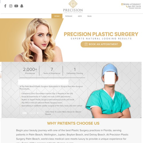 Web Banner for Precision Plastic Surgery Company
