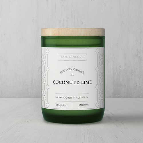 Label design with a hint of Art Deco