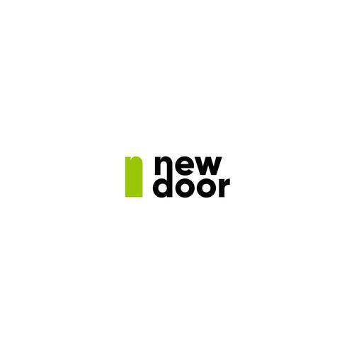 "logo concept for real estate team ""New door"""