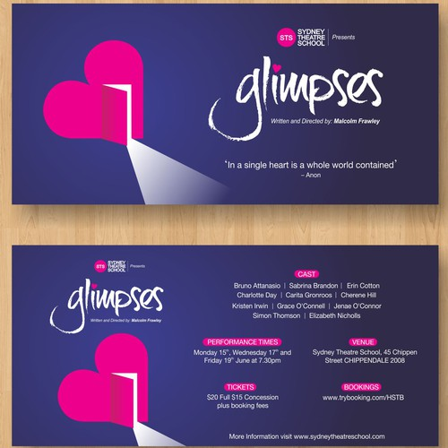 Glimpses - Post Card Design