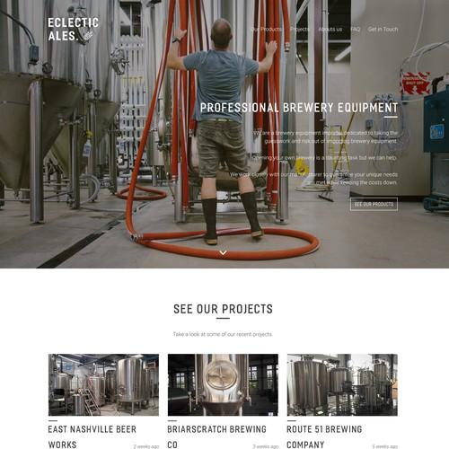 Eclectic Ales Website Concept