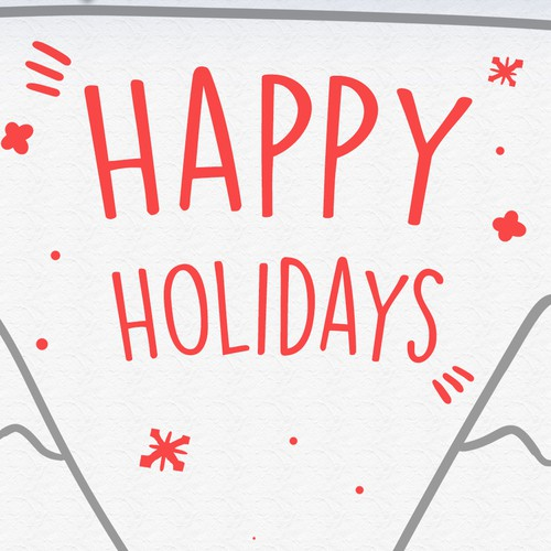 Happy Holiday Card Design