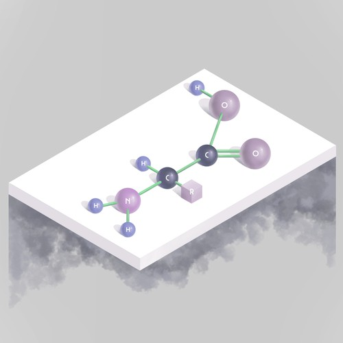12 Chemical Molecule Illustrations