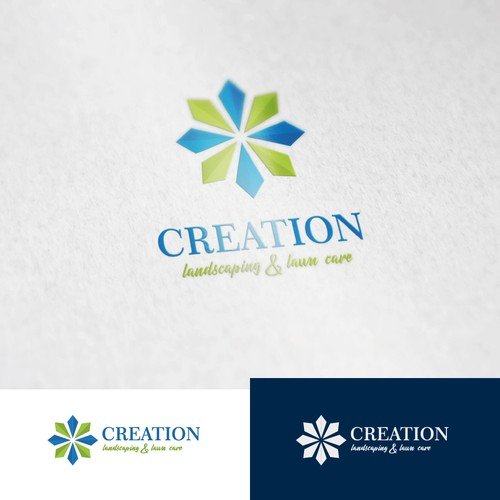 Creation Landscaping & Lawn Care needs a clean trendy logo